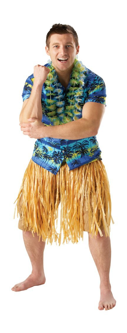 Hawaiian Grass Skirt - Natural - Length 50cm 30712