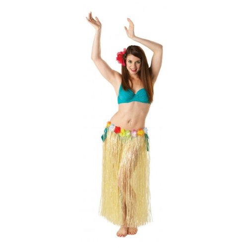 Hawaiian Grass Skirt - Natural - Length 80cm 30715