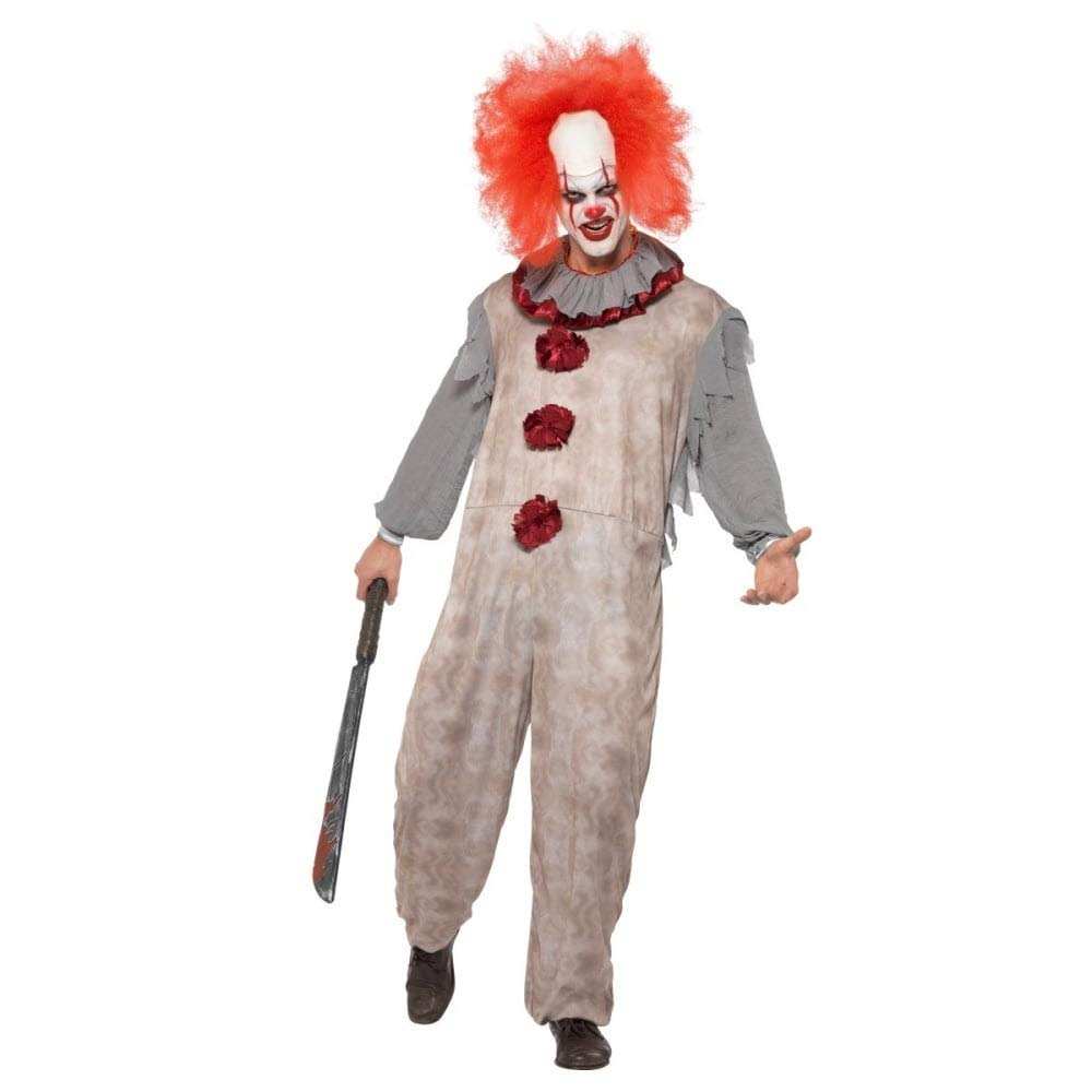 Adult vintage clown costume med 40325 Smiffys