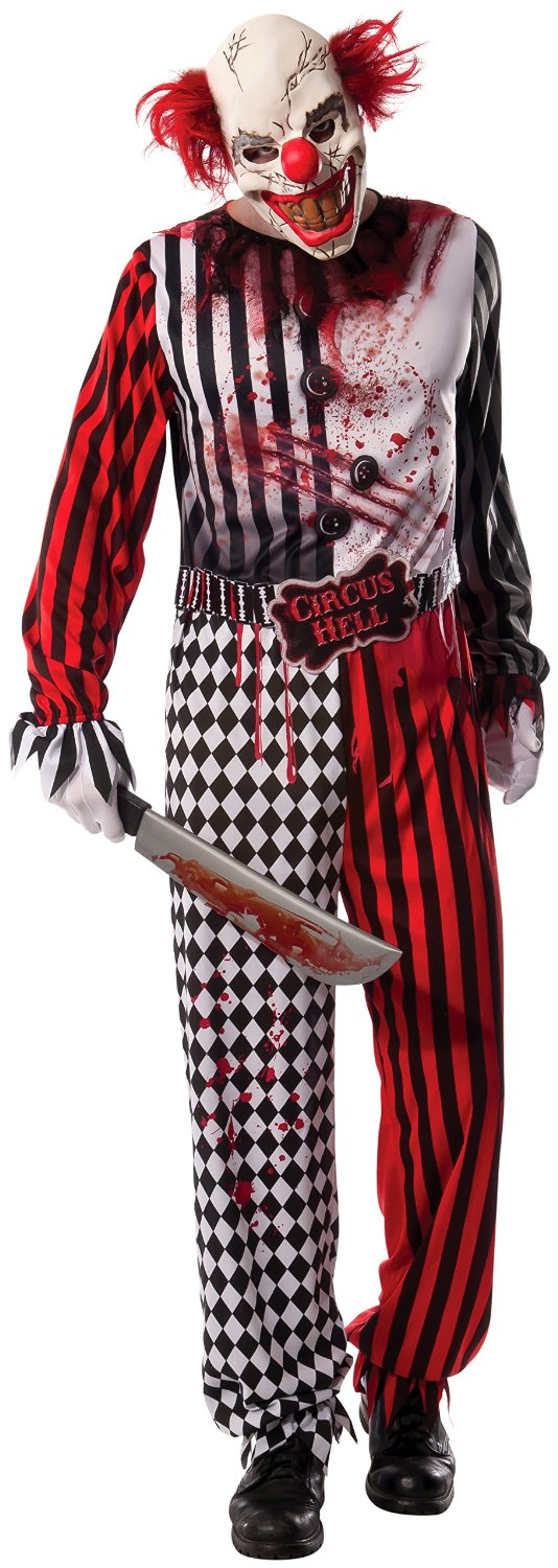 Adult Halloween Evil Clown Costume standard size 8