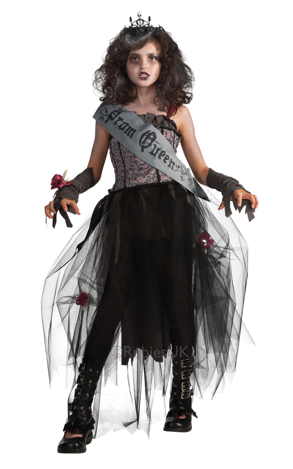 Child  black Prom Queen costume 884782