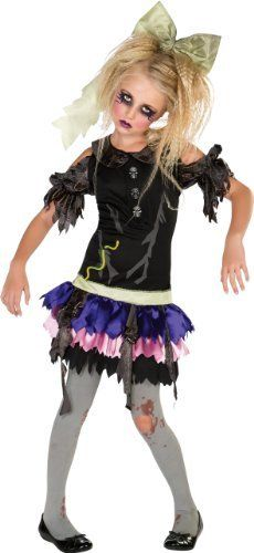 Girls Zombie Doll Costume 886627