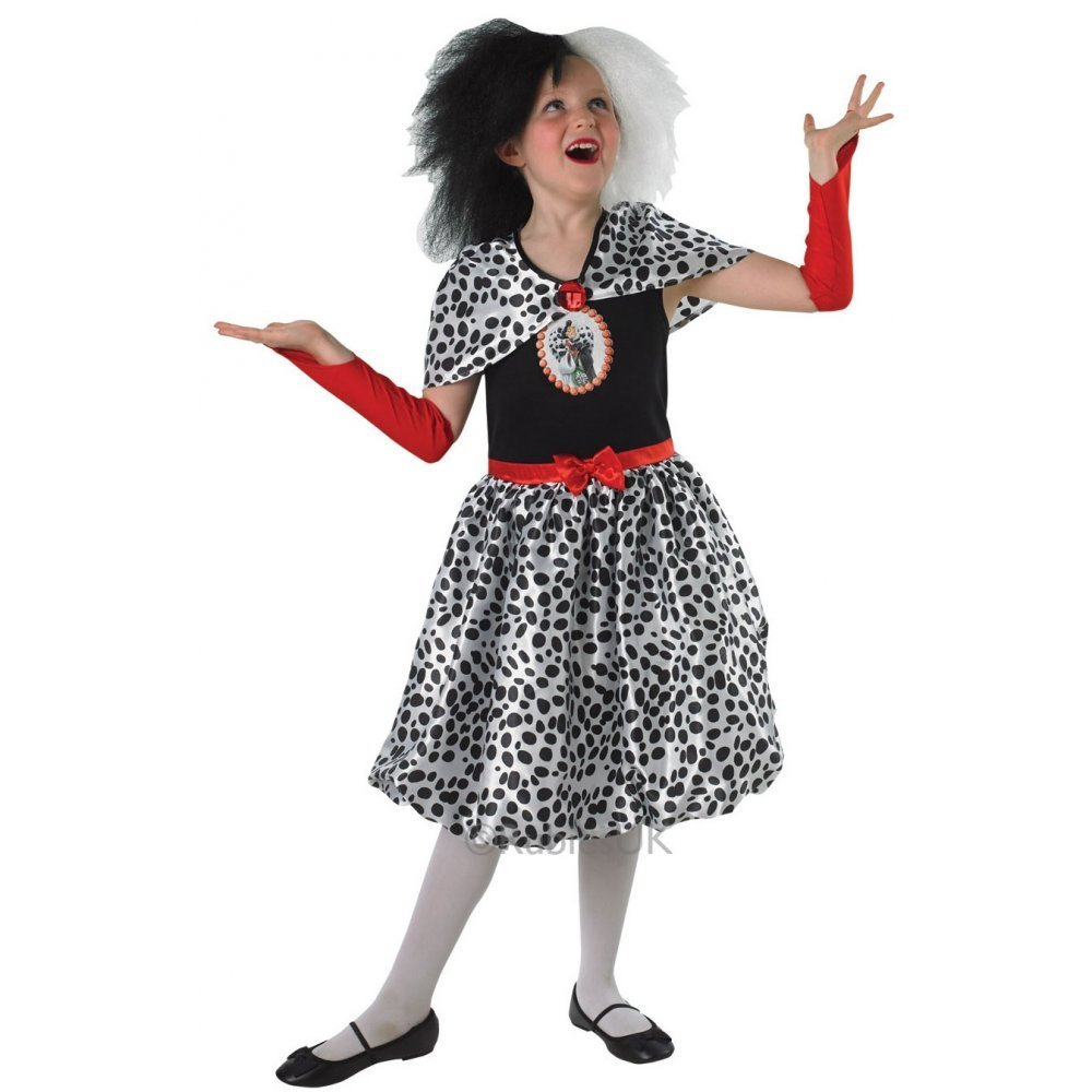 Girls Disney Cruelle De Ville Costume 888833
