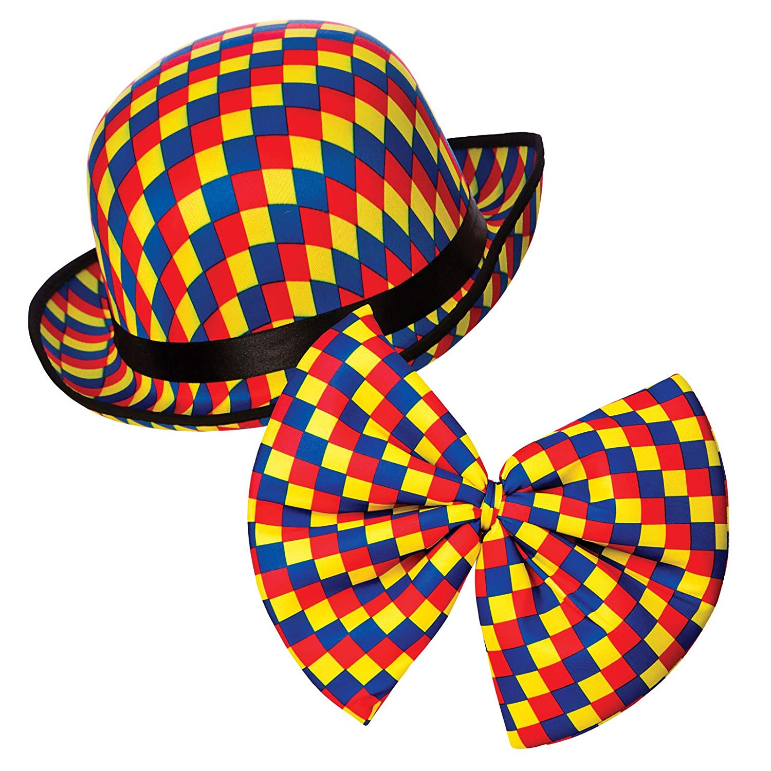 Clown bowler hat  and bow tie ac9208