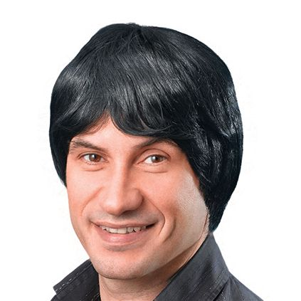 Male wig black BW068
