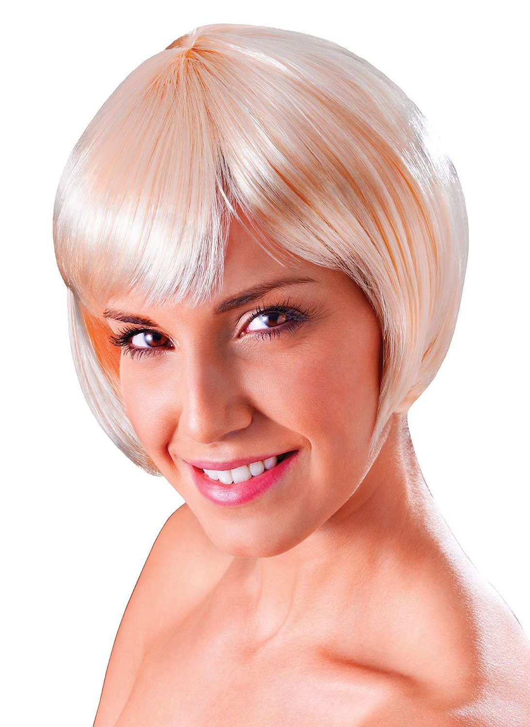 Blonde flirty flick wig bw859