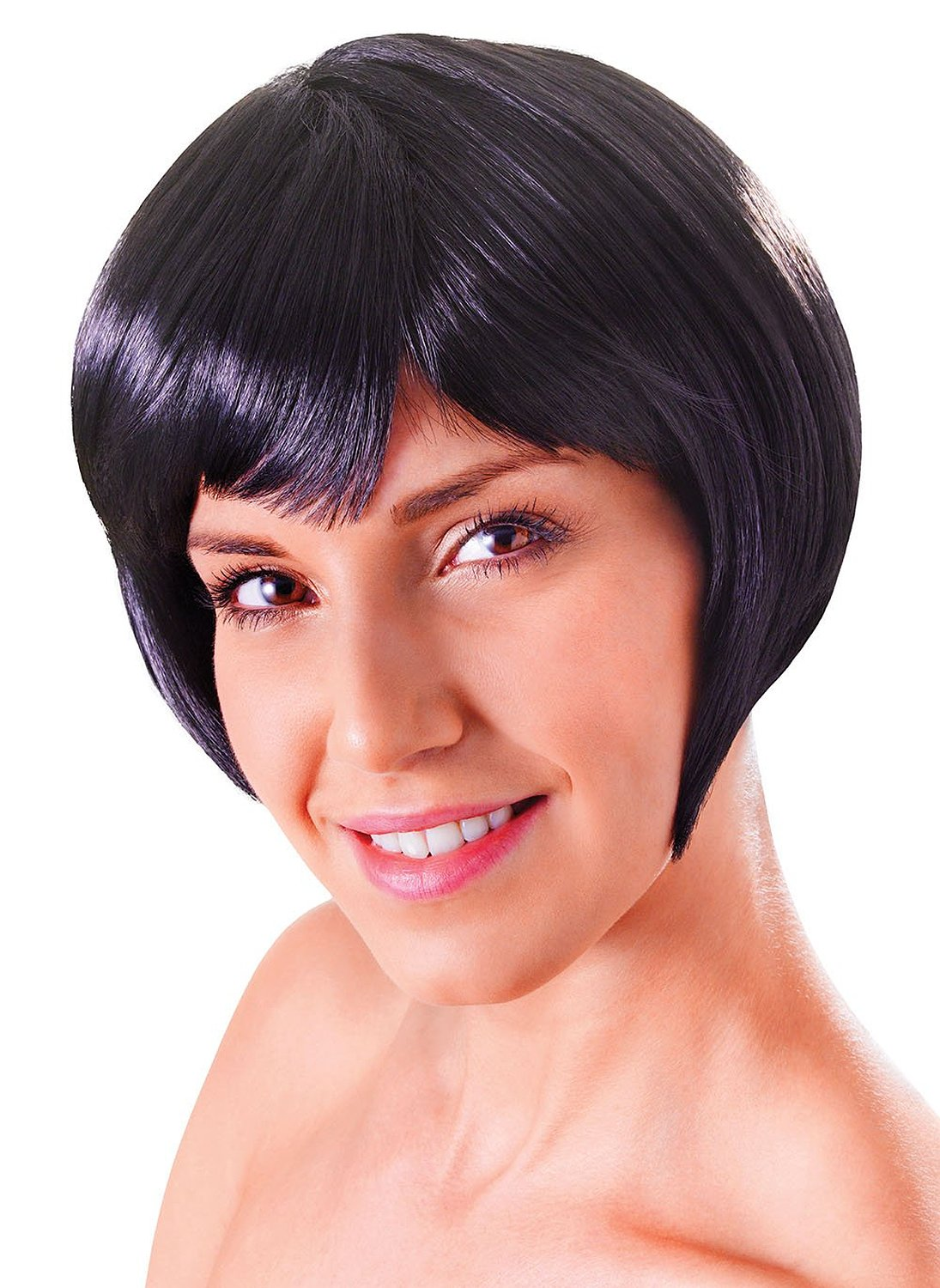 Black flirty flick wig bw860