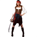 Caribbean pirate lady costume ef2032