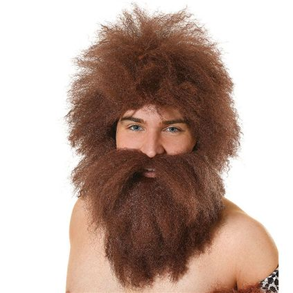 Caveman wig and beard BW737