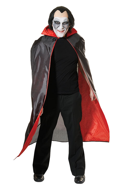 Dracula cape adult red and black AC968