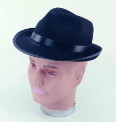 Black felt blues brothers hat BH182