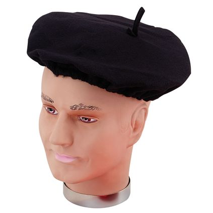 Black French Beret BH110