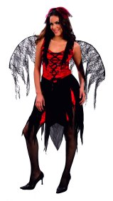 Goth spider fairy adult  costume AC598