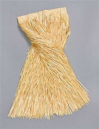 Adult grass skirt natural BA973