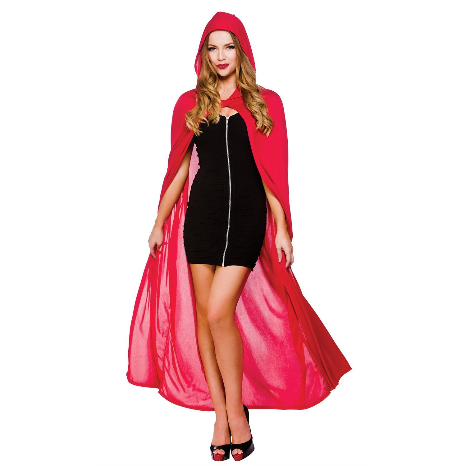 Unisex red adult hooded cape (wicked hf5095)