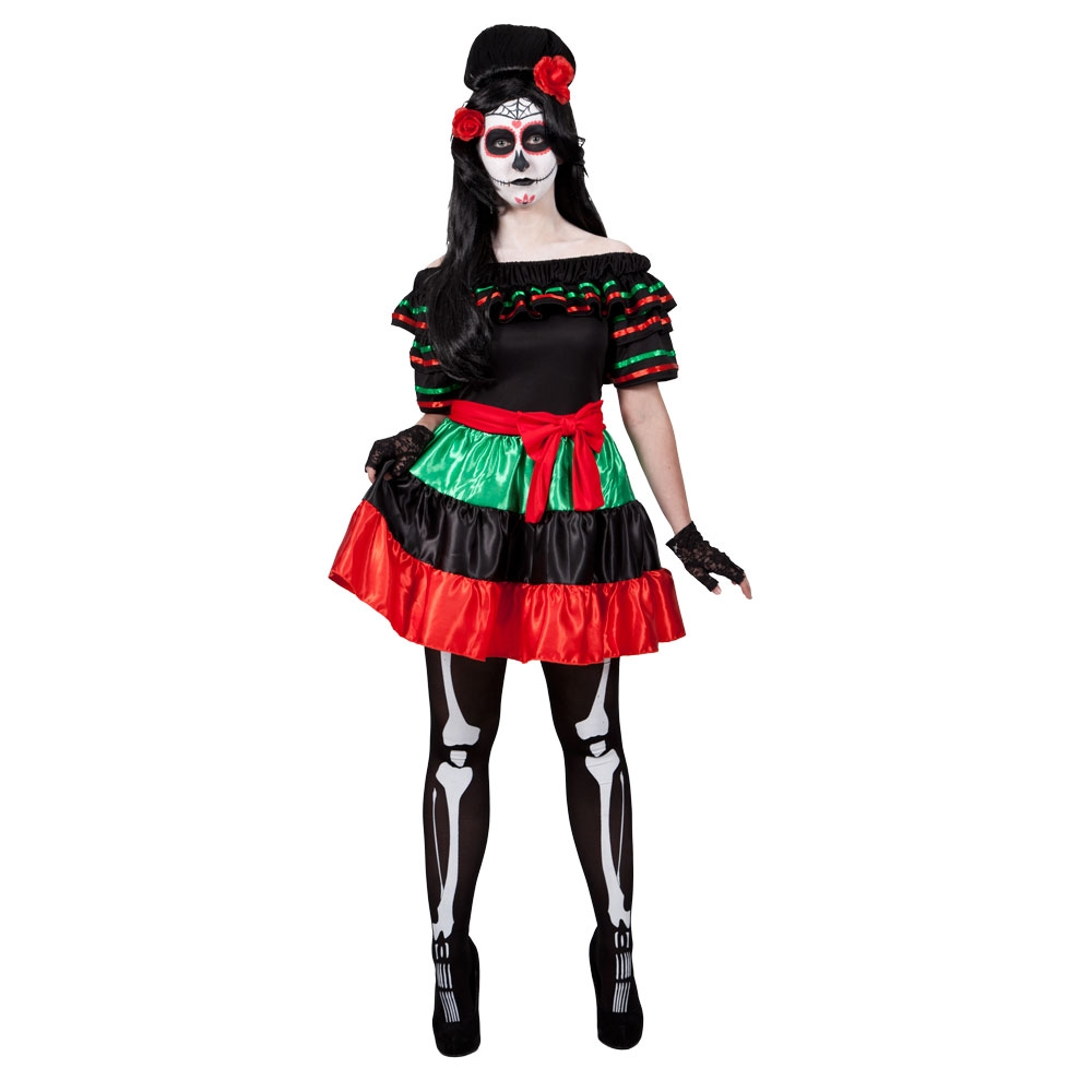 Mexican Day of The Dead costume female hf5210