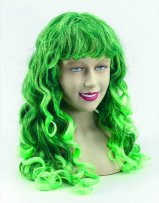 Long green wavy wig BW571