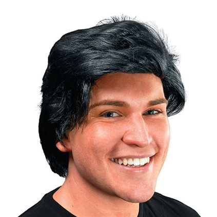 Black male side parting wig BW465