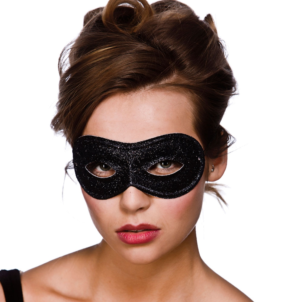 Black glitter eye mask mk9801