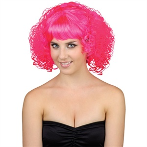 Pink curly wig EW8036 (wicked)