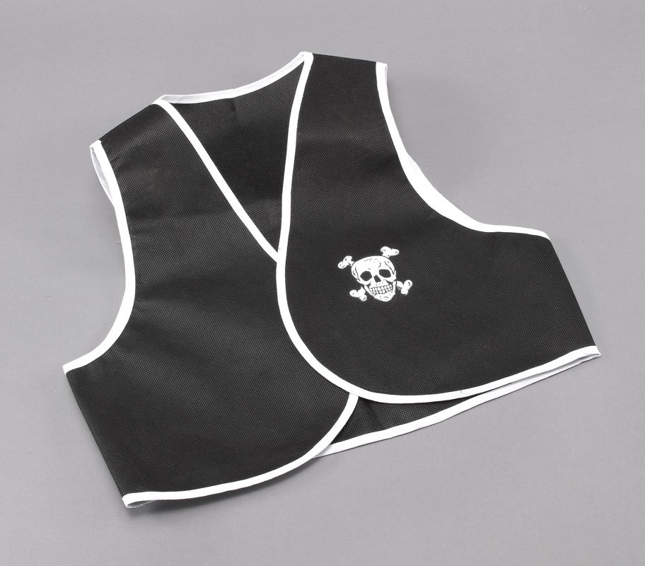 Black pirate waistcoat cheap BA151