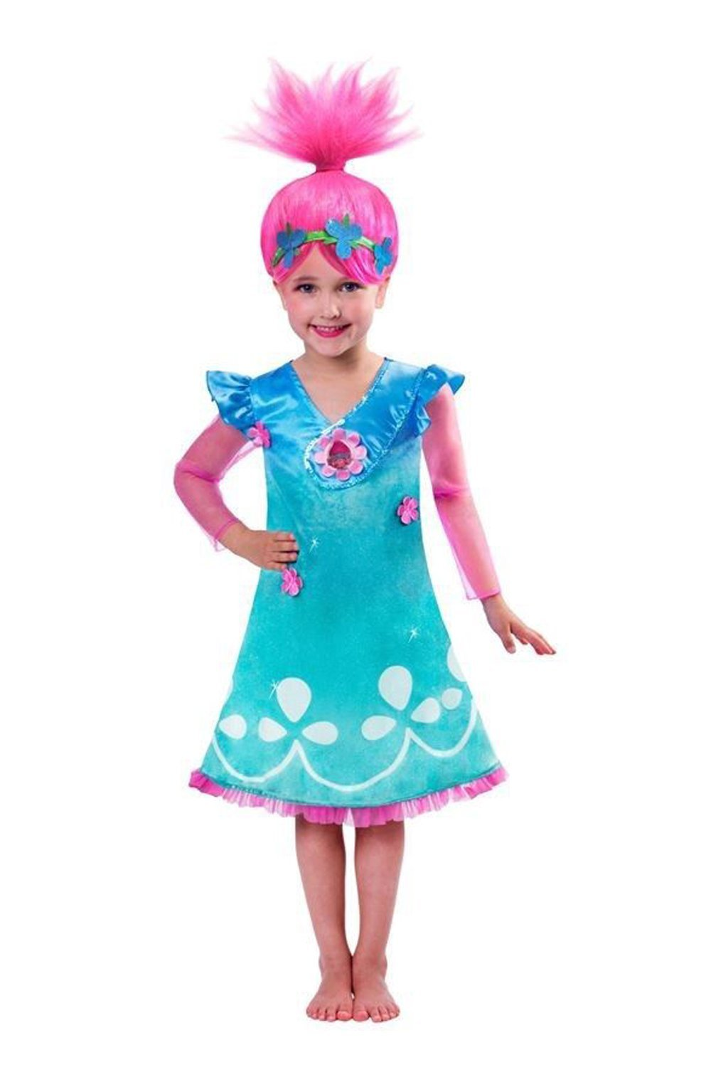 Girls Poppy Troll costume 9901482
