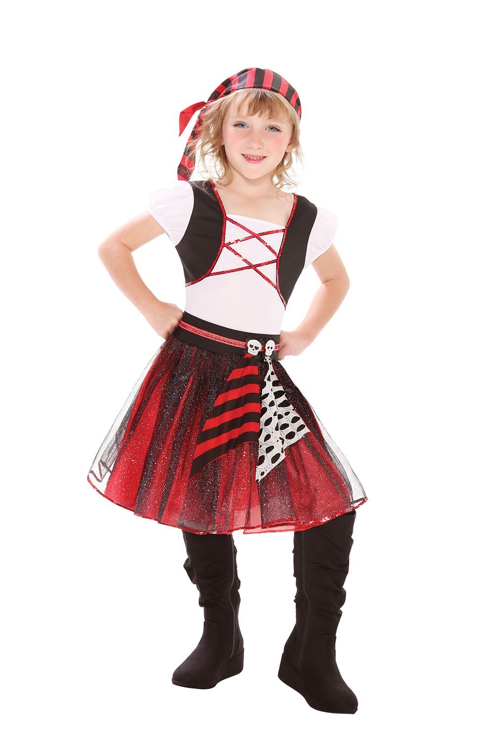 Punky pirate costume kids cc295/6