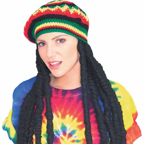 Rasta wig and hat 51178