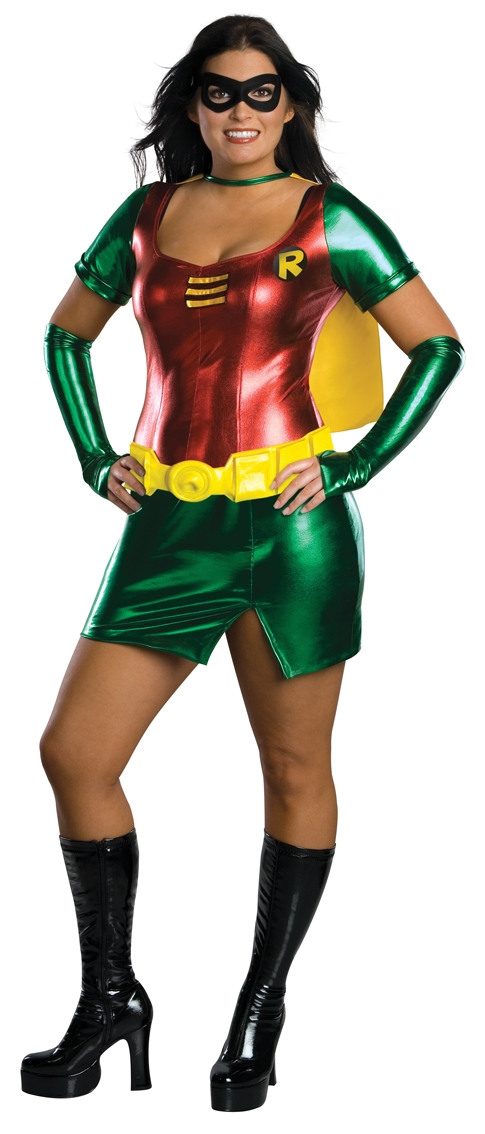 Female robin plus size costume 17594