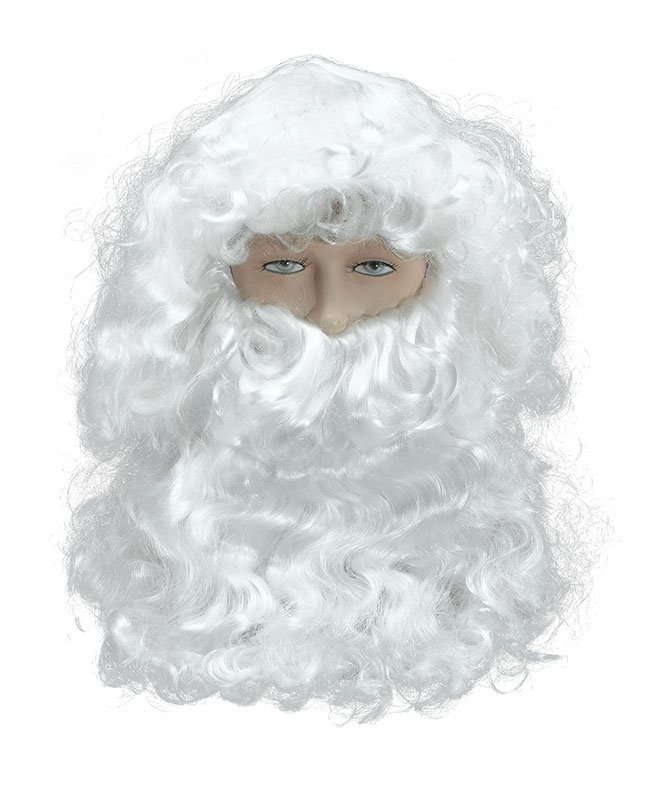 Santa wig and beard set deluxe BW115