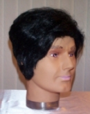 Man&#39s wig with sideburns black BW073