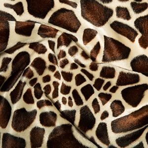 Vaboa fur fabric small giaffe print 60