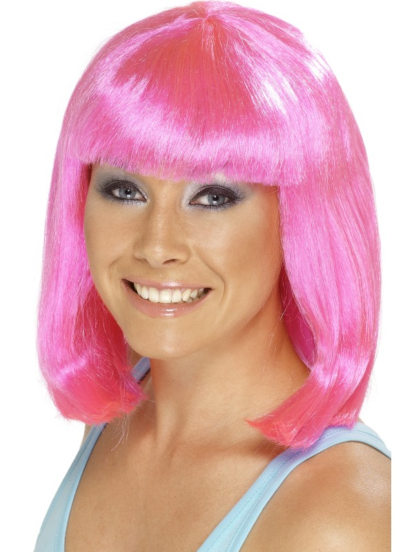 Cheerleader Wig Hot Pink ef-25425 (smiffys)