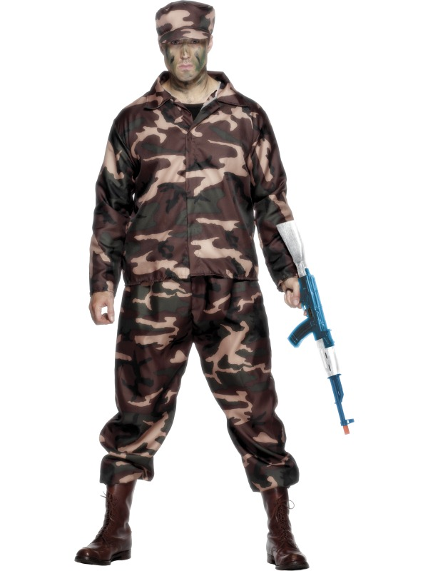 Army Soldier Costume ef-26381L (smiffys)