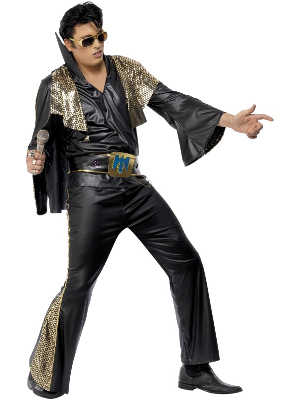 Elvis Black and Gold Costume ef-29150L(smiffys)