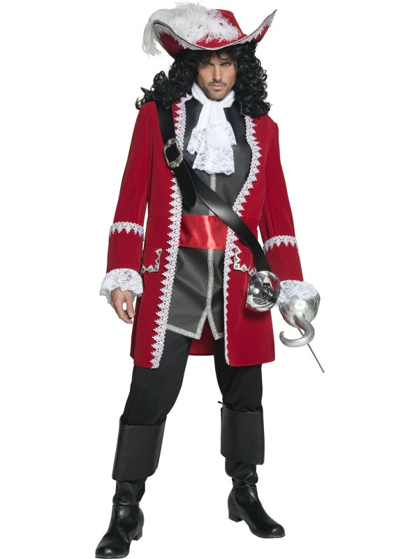 Authentic Pirate Captain Costume ef-36174M