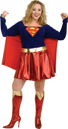 Supergirl costume plus size adult 17479
