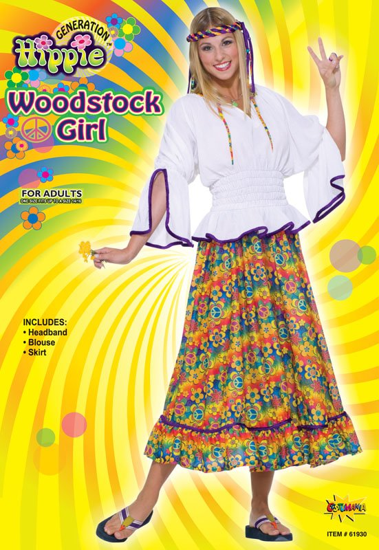 Woodstock hippy girl  costume AC788