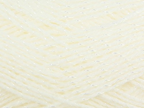 Peter Pan cream lustre wool 100g. Col:701