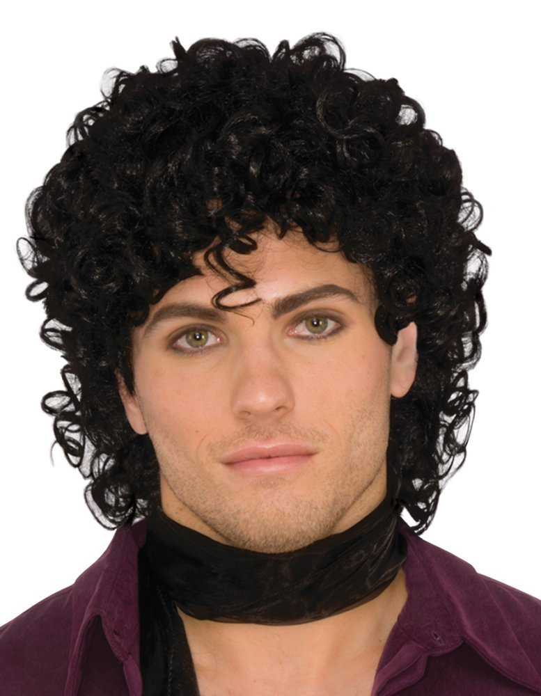 80's rock star black wig x78096